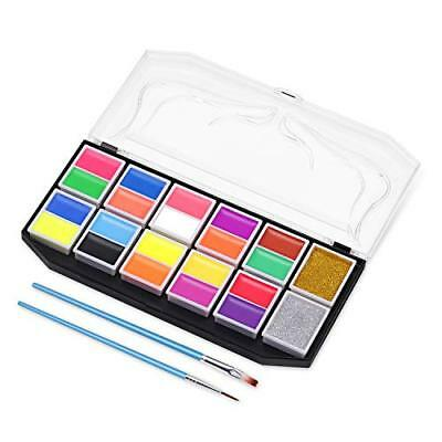 Pintura Cara Facial Niños Bision Kit 10 Colores Fluorescentes 10 Colores Mate