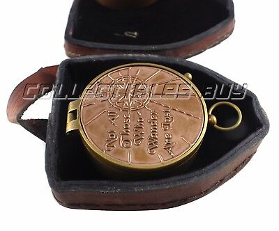NEW Not All Those Compass leather Case Vintage Marine Nautical Solid Brass