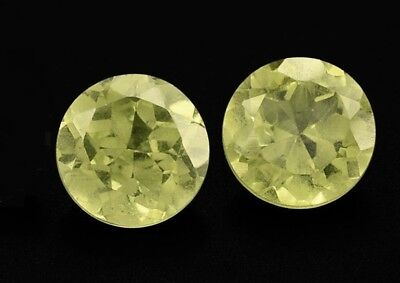 2 CHRYSOBERYLLE  -  ROUND FACET  -  4,2 mm  -  0,64 ct.