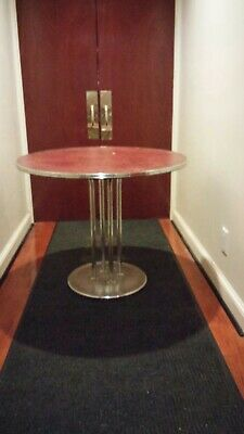 Tubular Chrome Dining Table Machine Age Art Deco