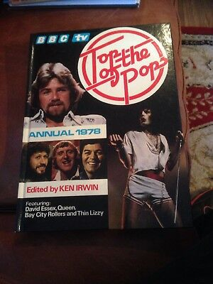 Vintage 1978 Top Of The Pops Annual:  Queen: Abba: Bob Marley