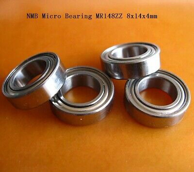 NMB Micro Deep Groove Ball Thin-Wall Double Shielded Bearing MR148ZZ 8x14x4mm