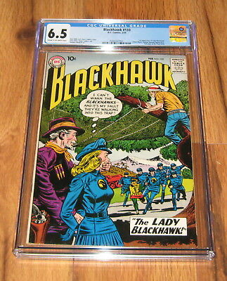 Blackhawk 133 (DC 1959) CGC 6.5 1st Appearance The LADY BLACKHAWK Rare Comic O/W