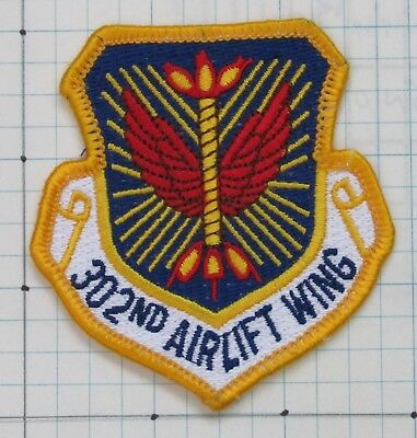 USAF Air Force patch - 302nd Airlift Wing (AW), on hook & loop