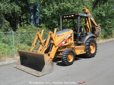 2006 Case 580 Super M Series II 4WD Backhoe Wheel Loader Tractor Outriggers 95HP