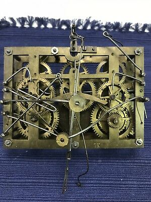 Antique Quail Cuckoo Clock Movement For Restoration Repair or for Parts Only