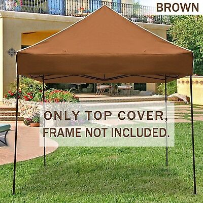STRONG CAMEL Ez pop Up Canopy Replacement Top instant 10'X10' gazebo EZ canopy
