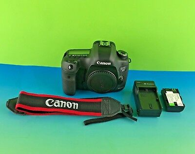 Canon Model EOS 5D Mark III 22.3MP Digital SLR Camera Black/ READ #exp5DC