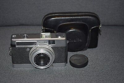 Vintage Minolta  Minoltina-P 35mm Film Camera with Leather Case and Lens Cap