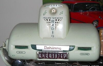 "Vintage Dahlberg ""Pillow Radio"" Restored with Speaker Coin Operated"