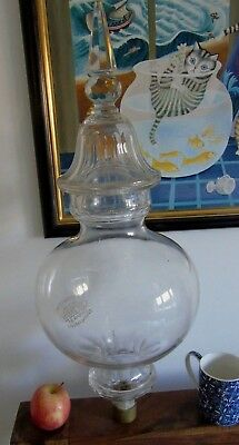 Glass Shade Lamp T Shorter And Sons Antique Crystal