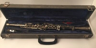 Vintage Three Star Clarinet Cundy Bettoney Co #an11276 ~ Mouthpiece & Case As-Is