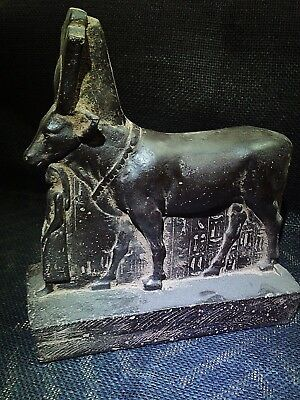 EGYPTIAN ANTIQUES ANTIQUITIES Hathor as a Cow Protecting Psamtik 664-525 BCE