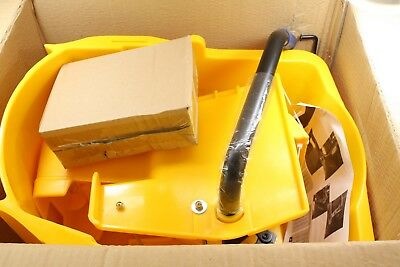Carlisle 3690404 Mop Bucket with Side Press Wringer 35 Quart Yellow