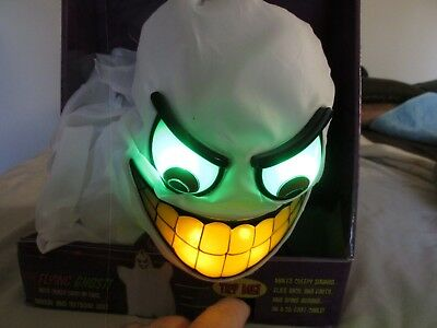 2006 Tekky Toys Halloween Flying Ghost With Crazy Light Up Face And Creepy Sound