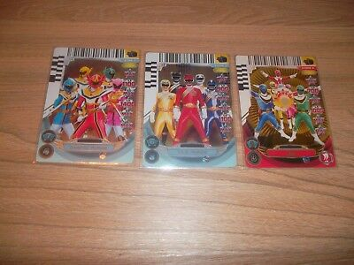 3 Cartes Power Rangers Saban's Action Card Game 2013 Zeo Mystic Wild Force Prism