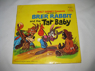 Walt Disney Brer Rabbit And The Tar Baby Vtg 1971 Childrens Book