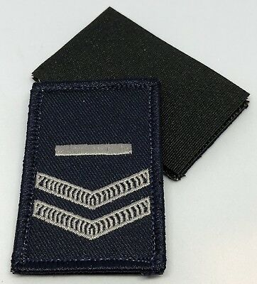 Police LBV Rank Patch #3, Dark Blue, NSW, VIC, WA, QLD, SA, NT, Hook Rear