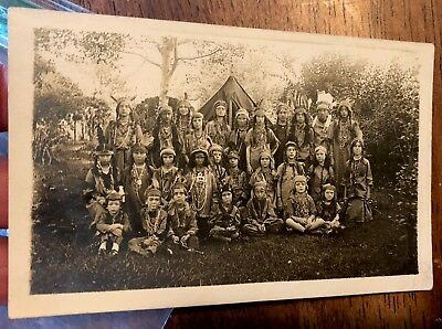 W😳W! Native American Indian Real Photo RPPC Postcard Early 1900's