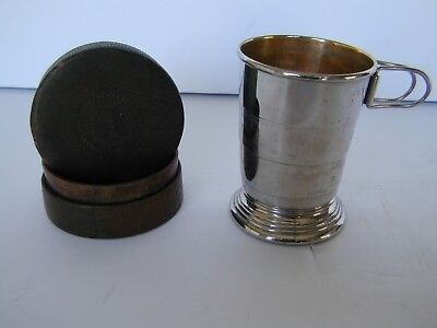 The Home Insurance Company, Advertising, Collapsible Silver Cup & Leather Case