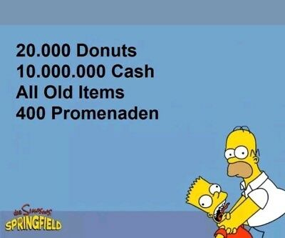 Die Simpsons:Springfield Tapped Out Spiele App -  20.000 Donuts