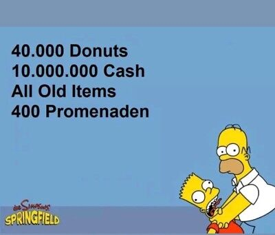 Die Simpsons:Springfield Tapped Out Spiele App  -  40.000 Donuts
