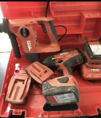 Hilti SIW18T-A  Impact Wrench & TE4-A18 Cordless 18 Volt Kit 3 Batteries/charger