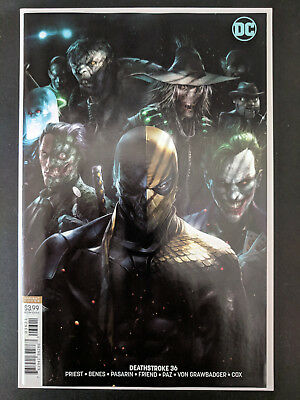 Deathstroke #36 Cover B Variant NM+  Francesco Mattina 1st Print