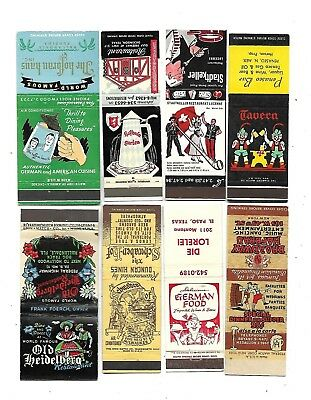 "8  ""German Restaurant""  Matchcovers"
