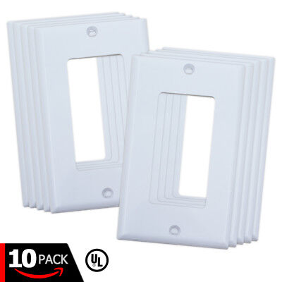 Decora White Wall Plates with Screws for Light Switch & Electrical Outlet Cover