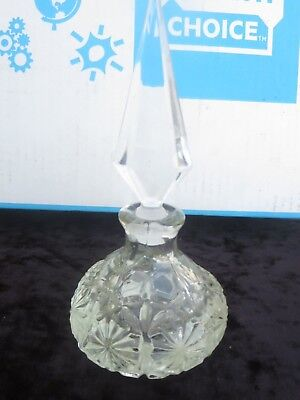 Antique Clear Cut Glass Perfume Bottle Decanter