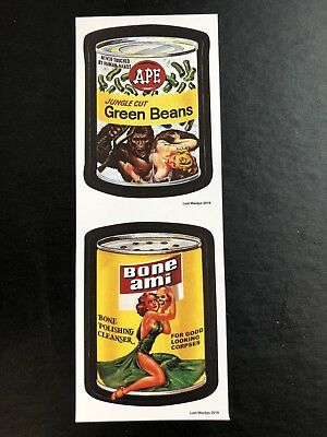 Lost Wacky Packages VARIATIONS DOUBLE RED LUDLOW Ape / Bone Ami #1/3