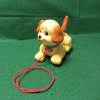 Fisher Price Pull Along Puppy Tan Brown Dog Toy 2005