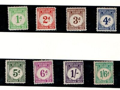 Gilbert and Ellice Islands 1940 Postage Dues SG D1-D8 MLH/MNH