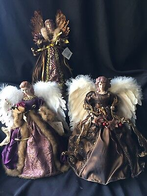 3-Angel Christmas Tree Toppers