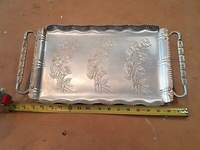 vintage serving tray with handles
