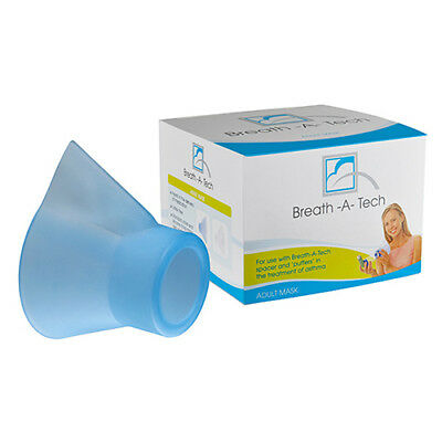 Breath-A-Tech Adult Mask Asthma Treatment Use With Breath-A-Tech Spacer & Puffer