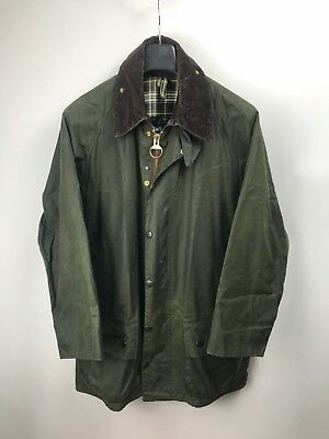 Barbour Men's Beaufort A150 Waxed Coat Jacket C42/107CM L Fishing Hunting Green