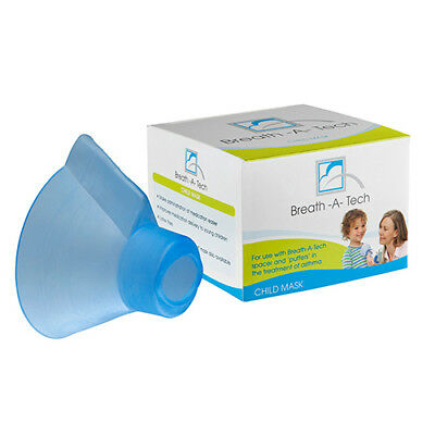 Breath-A-Tech Child Mask Asthma Treatment Use With Breath-A-Tech Spacer & Puffer
