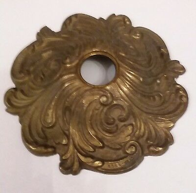 """Antique Ornate Victorian Style  Brass Chandelier Ceiling Canopy 6 - 1/2"""""""