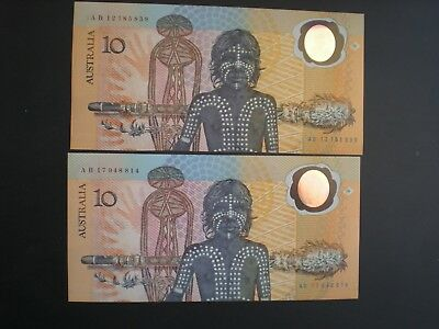 1988 AB $10 Aust-bi-centenary 1st Issue & 2nd issue    UNC