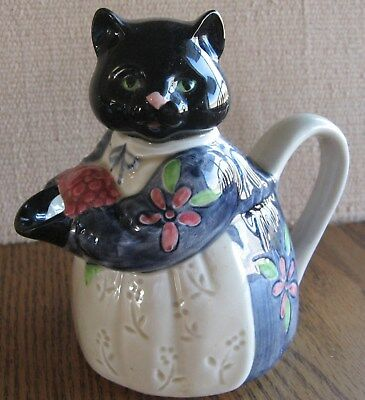 Otagiri Hand Painted Cat Teapot Edith Collection Made In Japan Nice!!