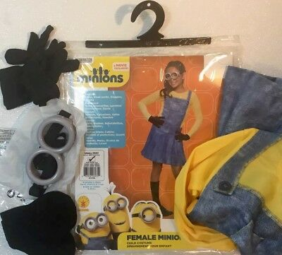 Minions Halloween Costume.New Minions Kevin Girls Halloween Costume Child Small 4 6 Goggles Suit Dress Set