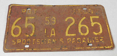 1959 Louisiana truck license plate
