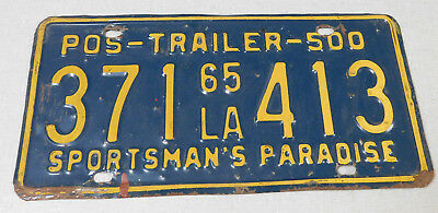 1965 Louisiana trailer license plate