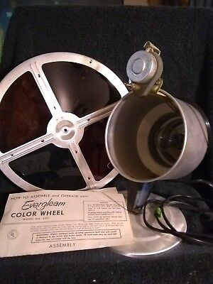 """Vintage Evergleam Aluminum Christmas Tree  Color Wheel Light for parts """"AS IS"""""""