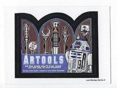 2018 Lost Wacky Packages Series 4 LW4 STAR WARS Bonus Sticker ARTOOLS nm+ NR