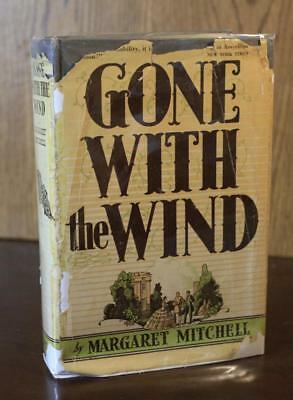 Margaret Mitchell GONE WITH THE WIND 1938 early printing w/DJ Civil War 1st
