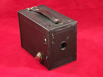 Antique Eastman Kodak Brownie No 2 Model F Box Camera Patent Pending