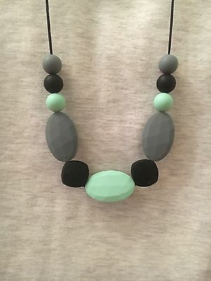 Silicone Sensory (was teething) Necklace for Mum Jewellery Beads Aus Mint gift